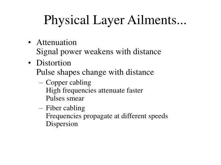 Physical Layer Ailments...
