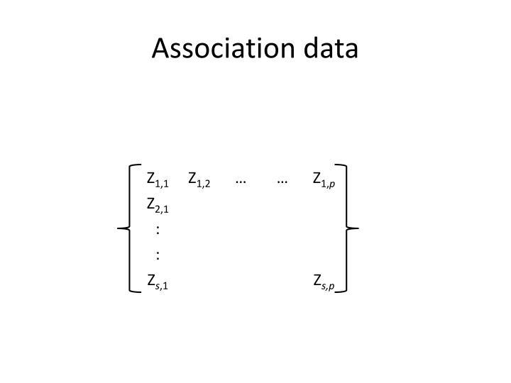 Association data