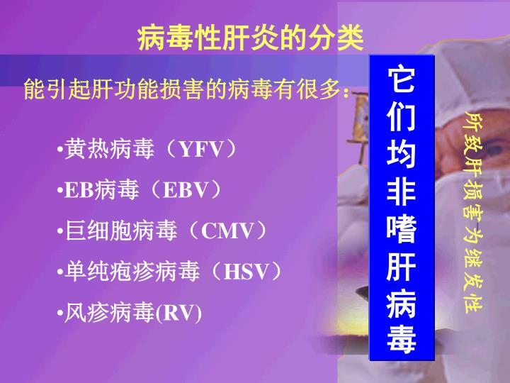病毒性肝炎的分类