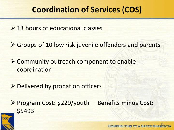 Coordination of Services (COS)