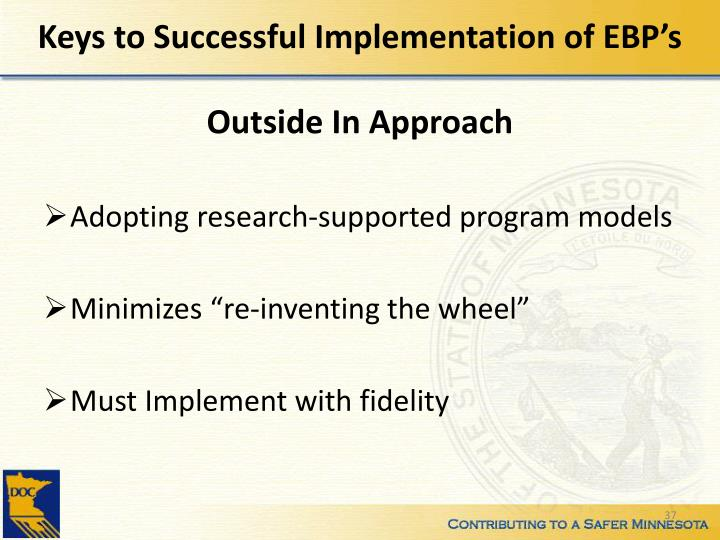 Keys to Successful Implementation of