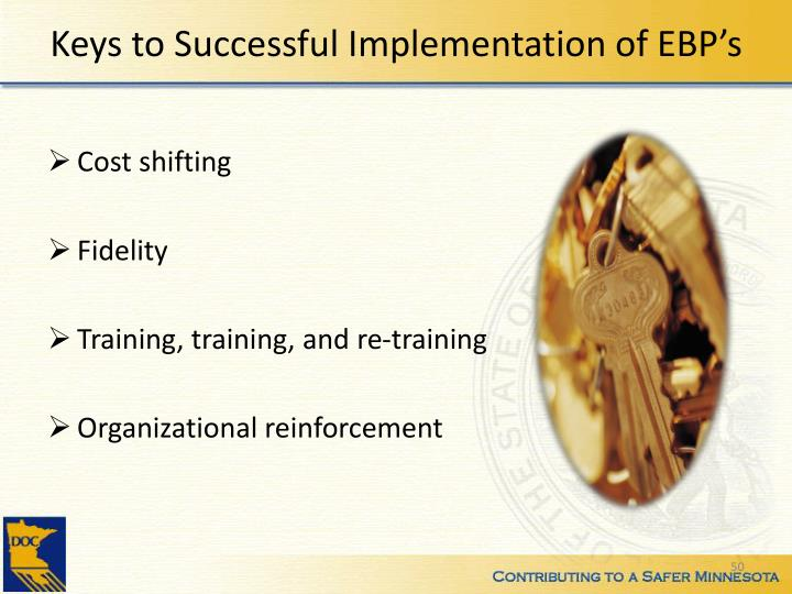 Keys to Successful Implementation of EBP's