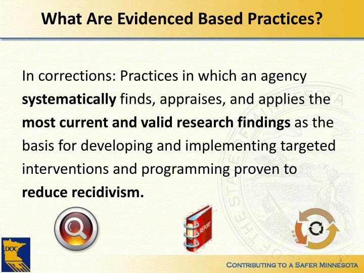 What Are Evidenced Based Practices?