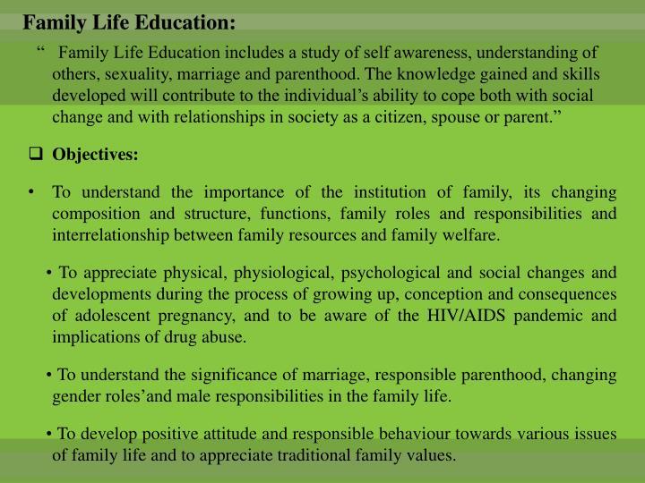Family Life Education: