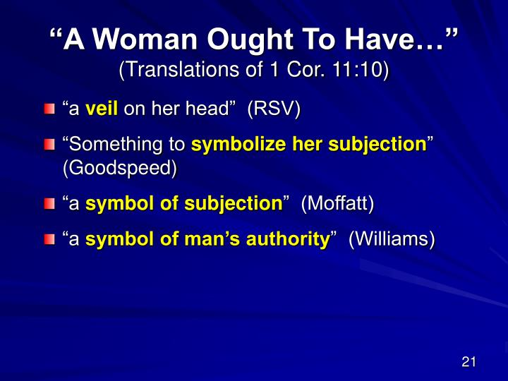 """""""A Woman Ought To Have…"""""""