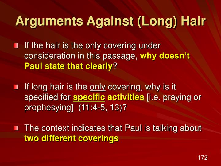Arguments Against (Long) Hair