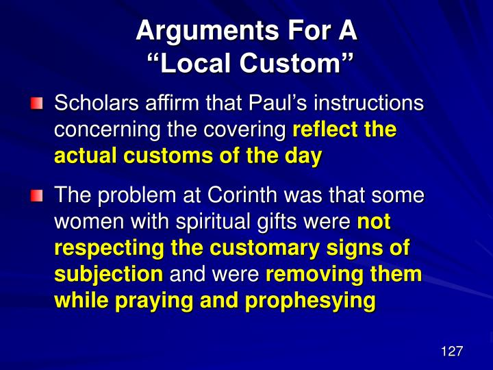 Arguments For A