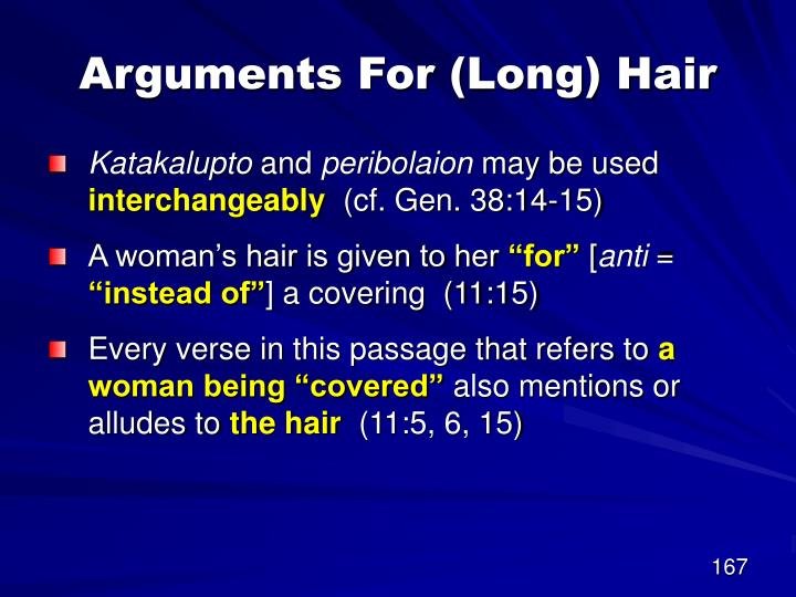 Arguments For (Long) Hair