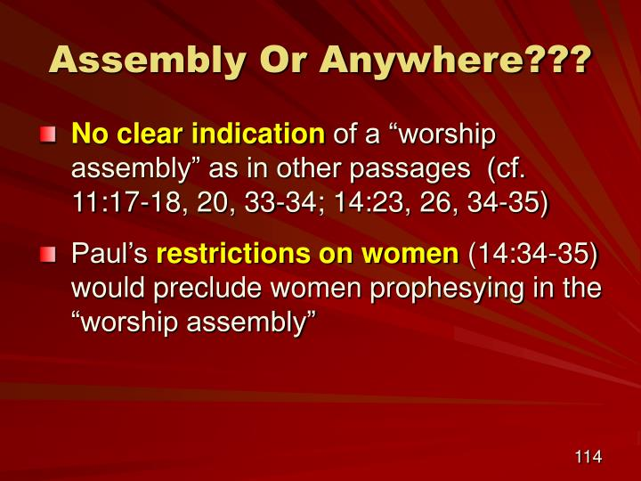 Assembly Or Anywhere???