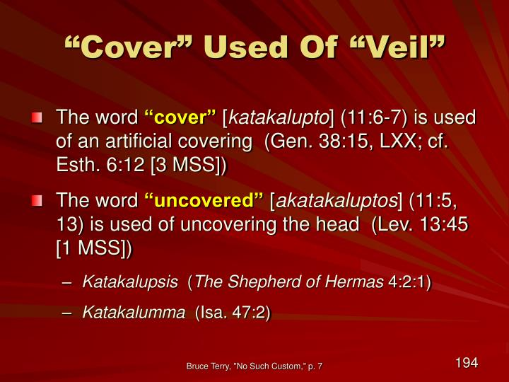 """""""Cover"""" Used Of """"Veil"""""""