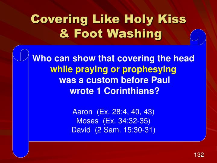 Covering Like Holy Kiss
