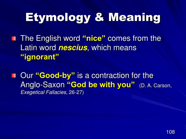 Etymology & Meaning