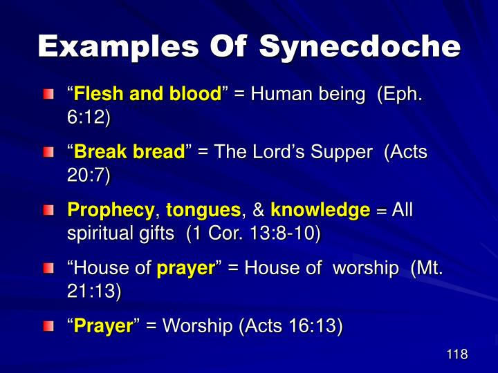 Examples Of Synecdoche
