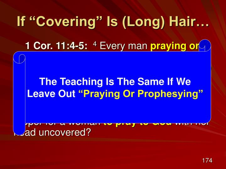 """If """"Covering"""" Is (Long) Hair…"""