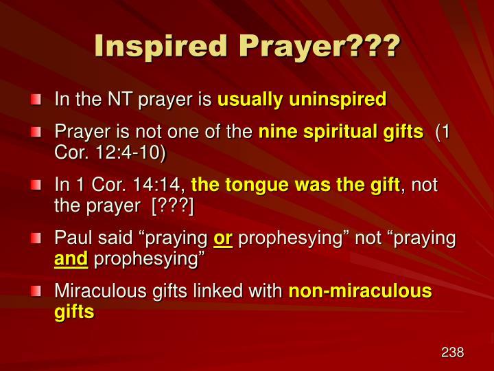 Inspired Prayer???