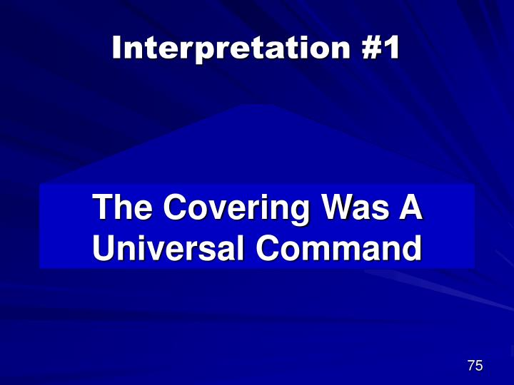 Interpretation #1