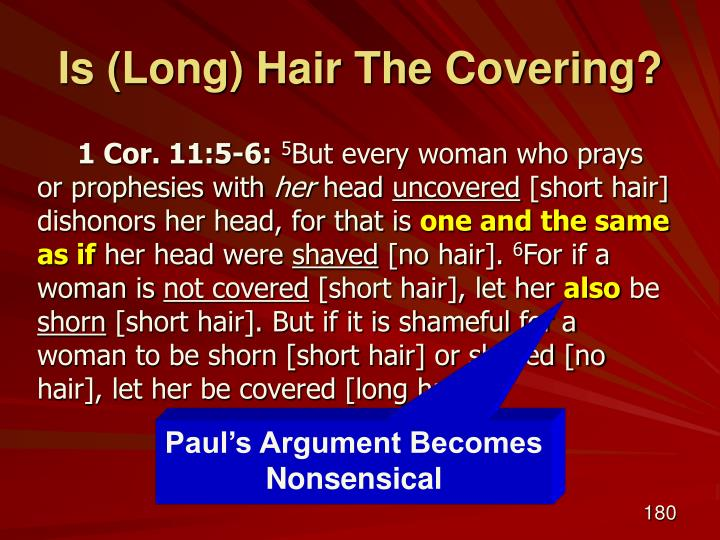 Is (Long) Hair The Covering?