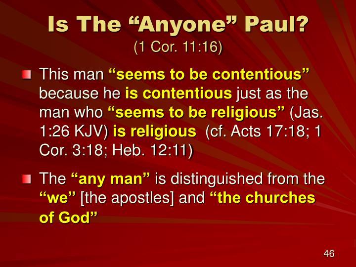 "Is The ""Anyone"" Paul?"