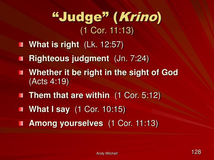 """""""Judge"""" ("""