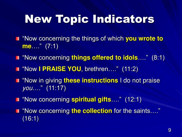 New Topic Indicators