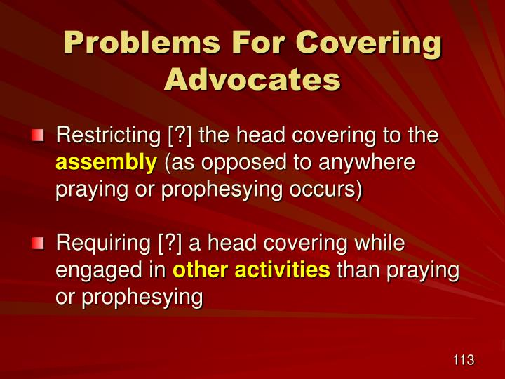 Problems For Covering Advocates