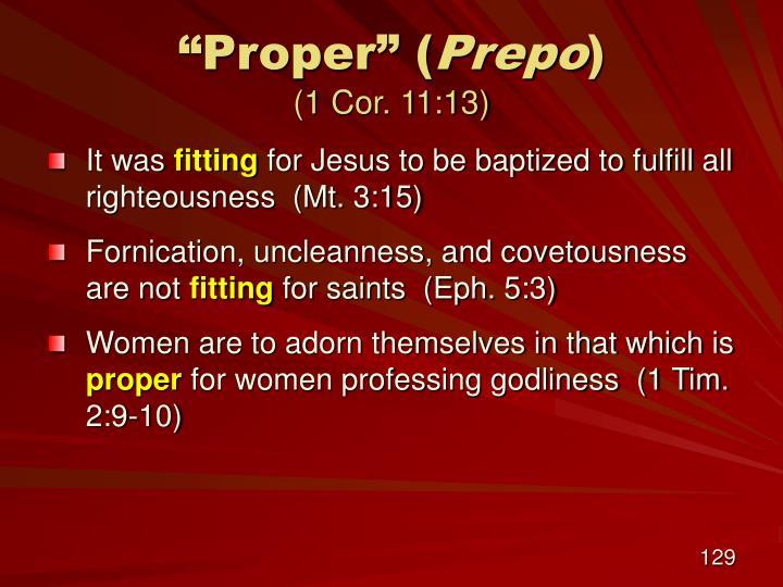 """Proper"" ("