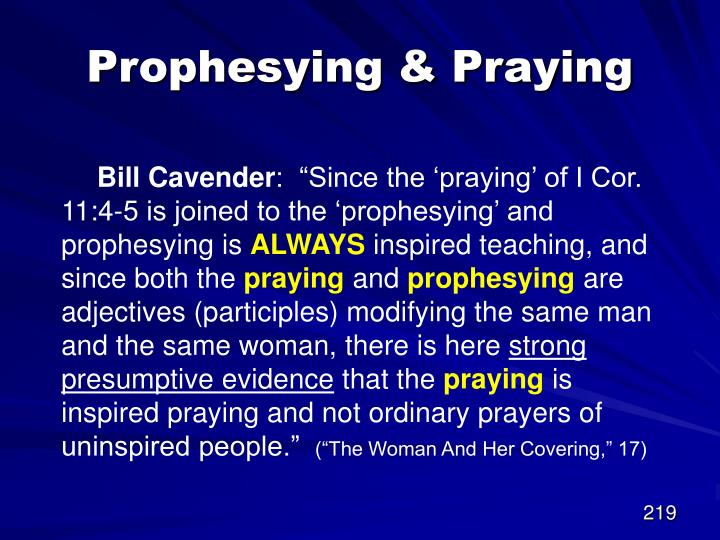 Prophesying & Praying
