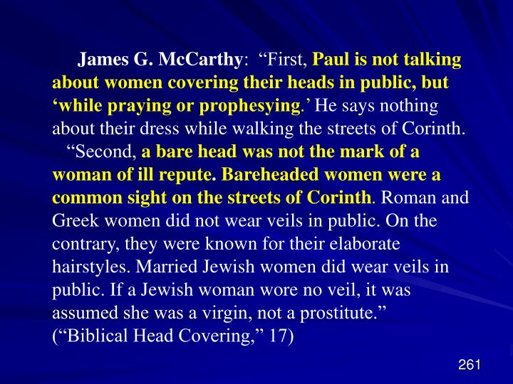 James G. McCarthy