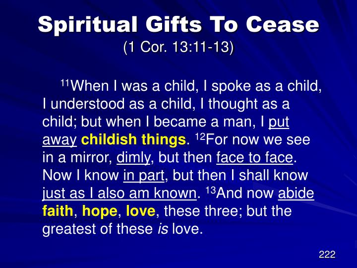 Spiritual Gifts To Cease
