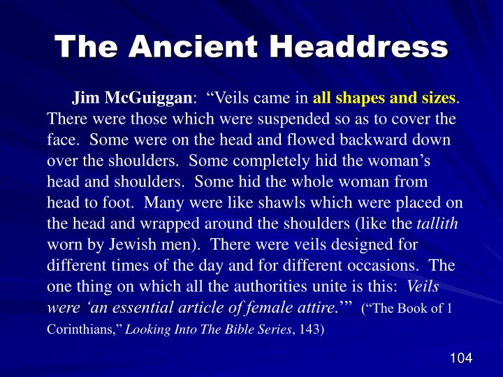 The Ancient Headdress