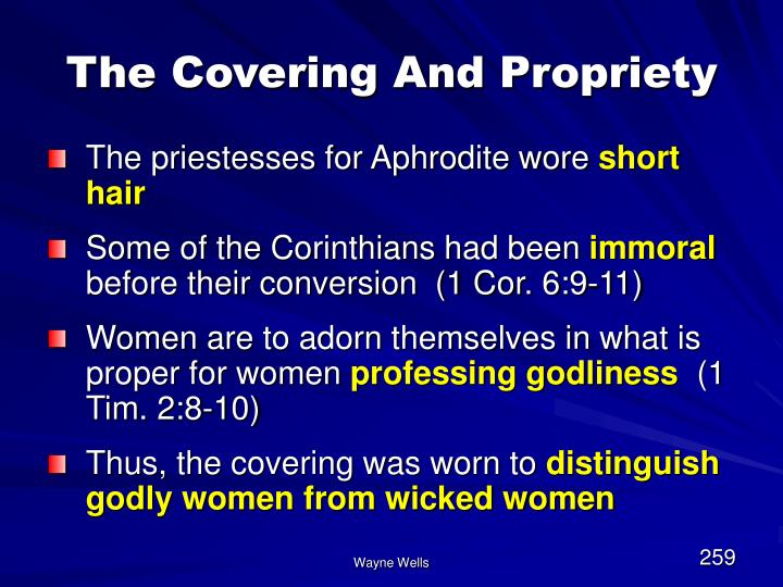The Covering And Propriety
