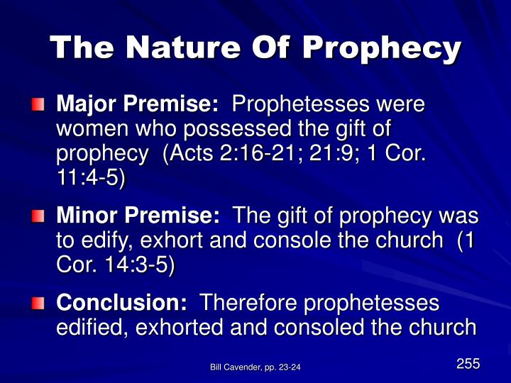 The Nature Of Prophecy