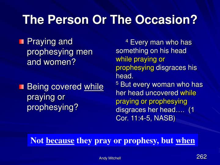 Praying and prophesying men and women?
