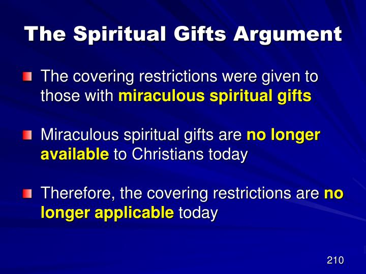 The Spiritual Gifts Argument