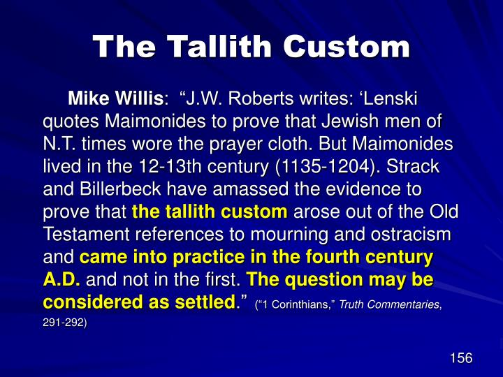 The Tallith Custom