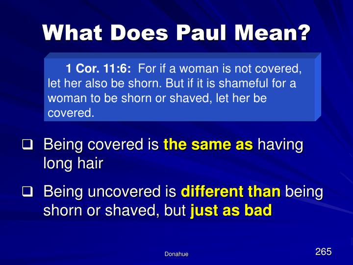 What Does Paul Mean?