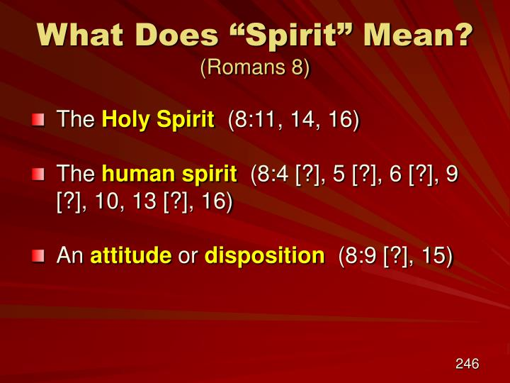 """What Does """"Spirit"""" Mean?"""