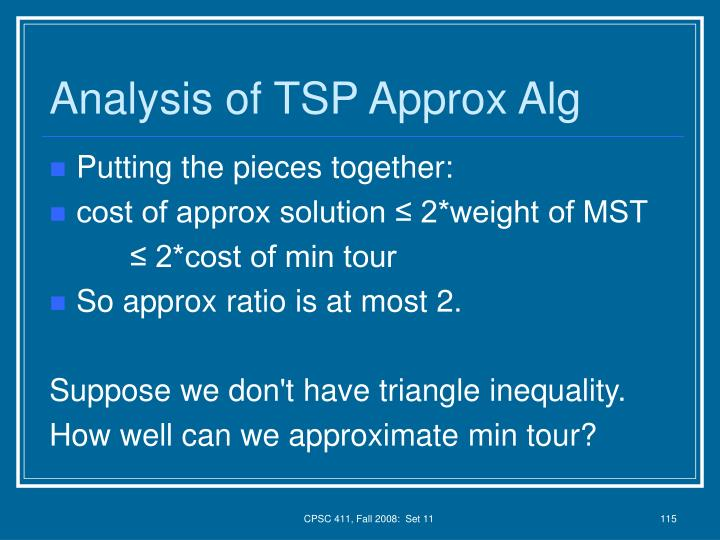 Analysis of TSP Approx Alg