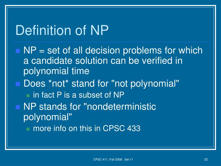 Definition of NP