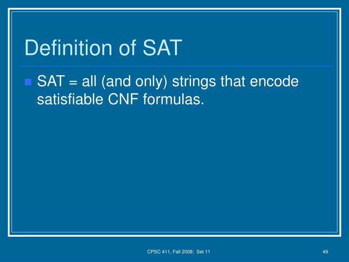 Definition of SAT