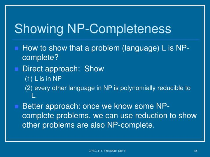 Showing NP-Completeness