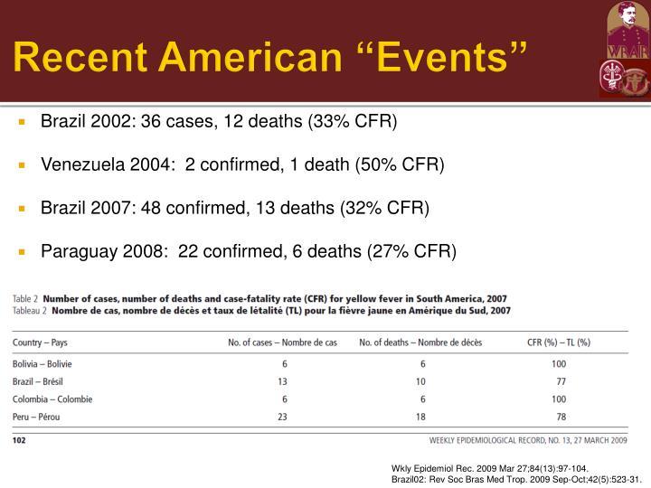 "Recent American ""Events"""