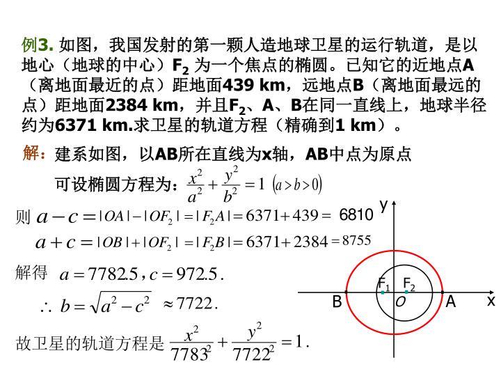 故卫星的轨道方程是