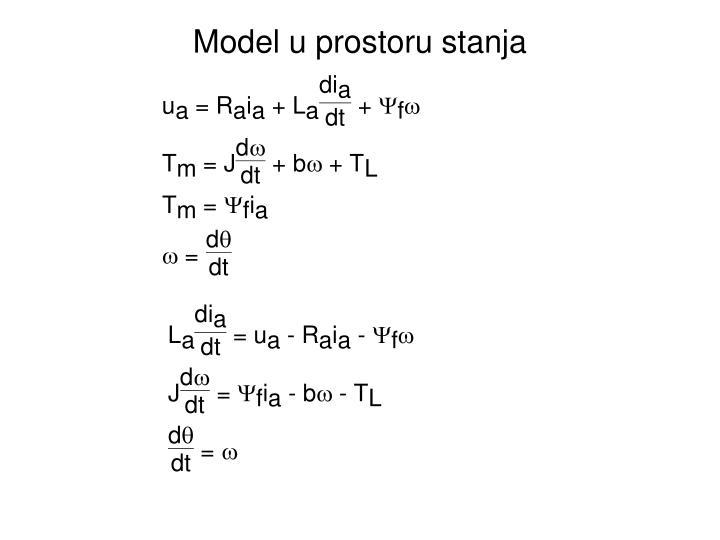 Model u prostoru stanja
