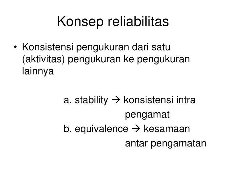 Konsep reliabilitas
