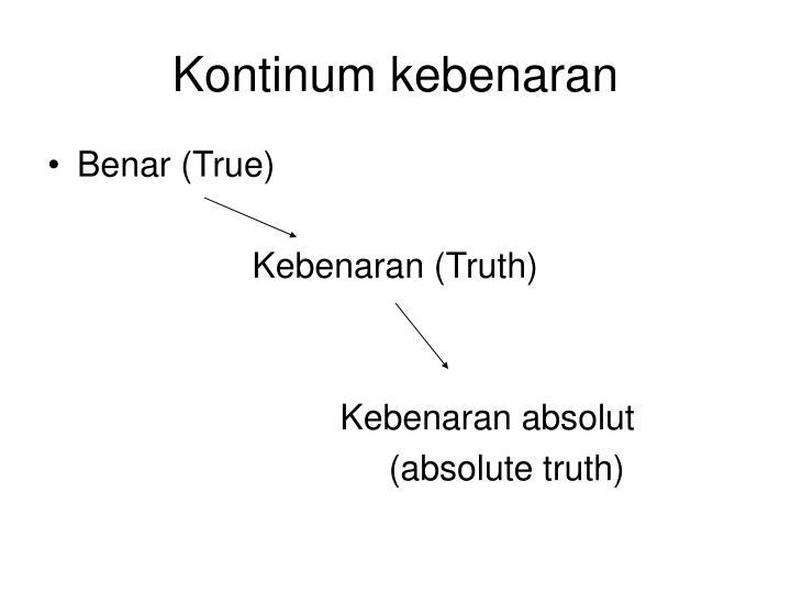 Kontinum kebenaran