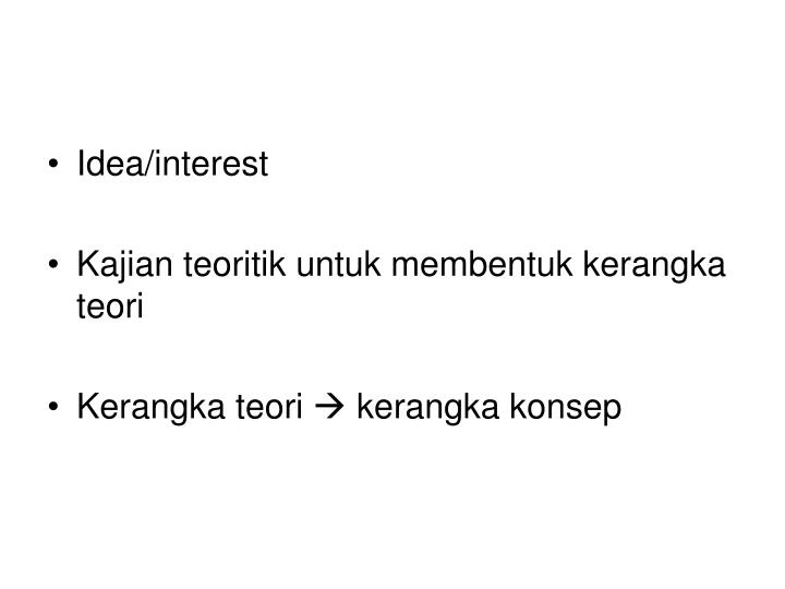 Idea/interest