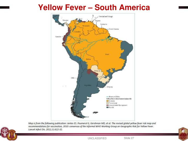 Yellow Fever – South America