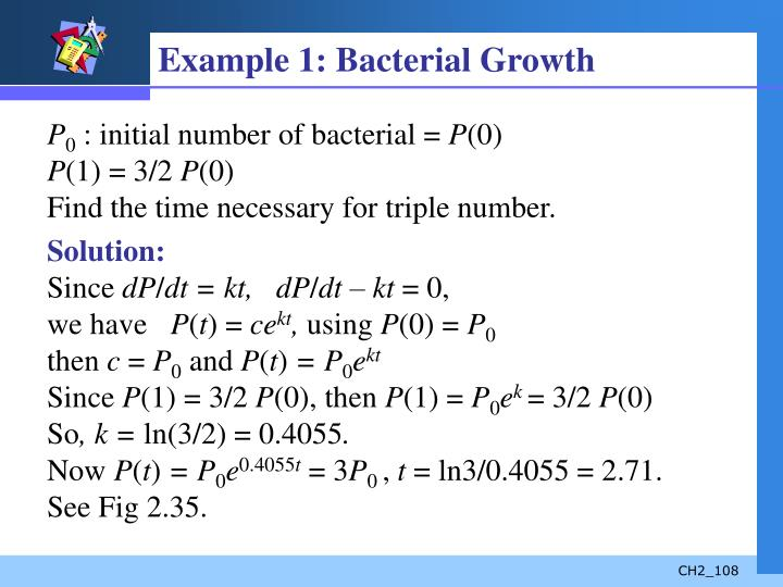 Example 1: Bacterial Growth