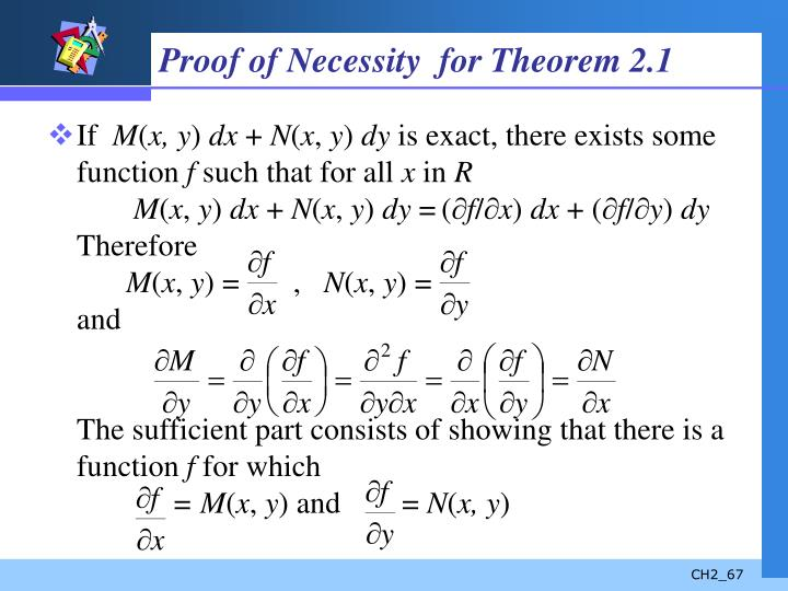Proof of Necessity  for Theorem 2.1